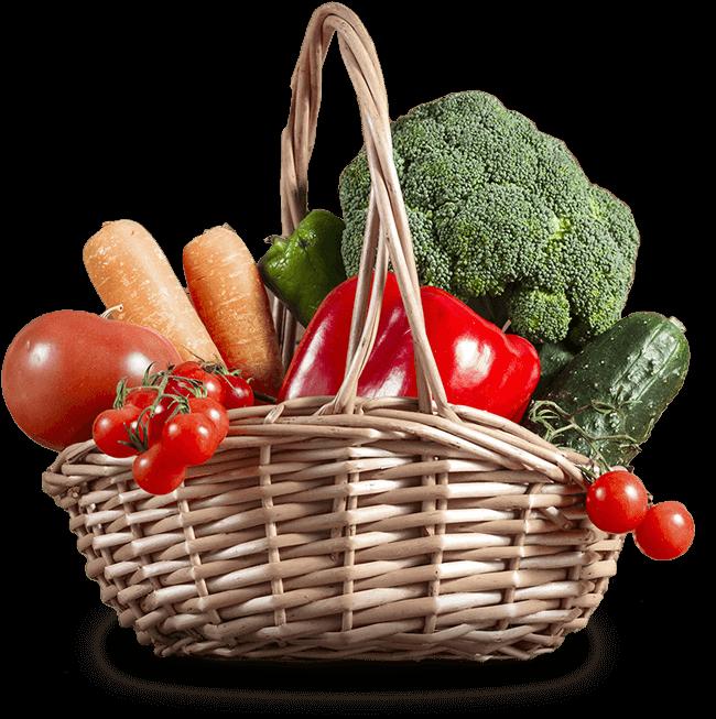 Panier légumes tomates tomates cerises brocoli carottes poivrons