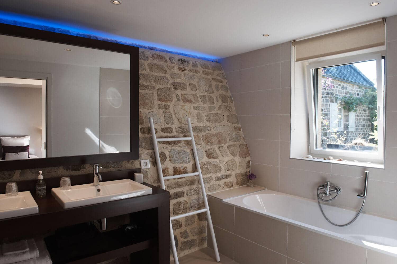 Chambre d'hôte Molène Salle de bain moderne