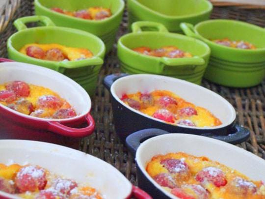 clafoutis de cerises au petit-déjeuner