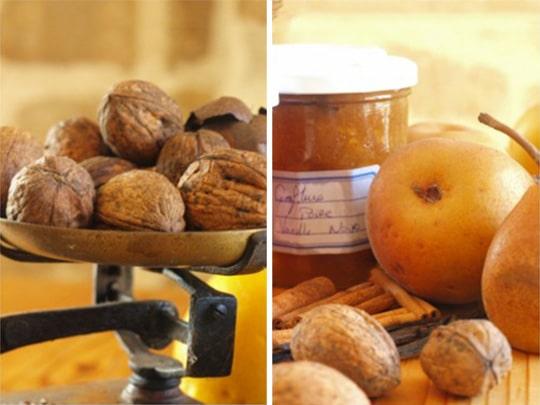 marmelade de noix maison à la ferme de kerscuntec maison d'hôtes de charme proche bénodet
