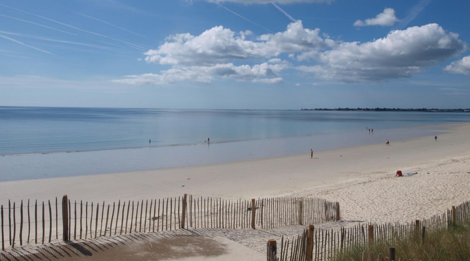 plage de Kermor Combrit près de la Ferme de kerscuntec